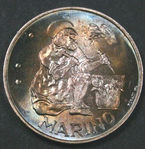 San Marino 1975 500 Lire - Stone Cutter - Dazzling Toned Brilliant Uncirculated