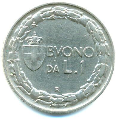 Italien-Regno, Buono da 1 Lira 1912 R  Roma