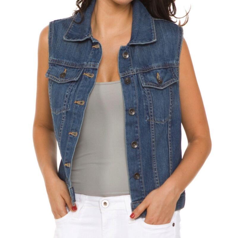 Womens Jean Vests