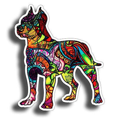 Graffiti Pitbull Sticker Dog Cup Laptop Car Window Bumper K9 Pit Bull Pet Decal ()