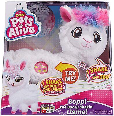 NEW Zuru Pets Alive Bopp Dancing Robotic Booty Shaking White Llama 3 Songs