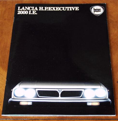 Lancia H.P. Executive I.E. sales brochure Prospekt, 1984 (German text)