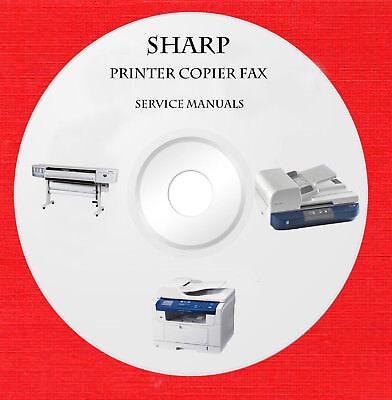 Sharp printer copier fax Repair Service manuals on 1 dvd in pdf format
