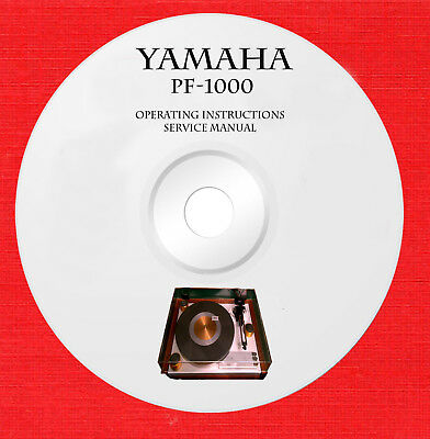 Yamaha PF-1000 Service manual and operating instructions on 1 cd in pdf format  for sale  Shipping to India