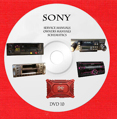 Sony audio video service schematics and owners manuals on dvd 10 of 18