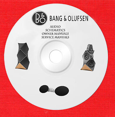 BANG & OLUFSEN Audio Repair Service owner manuals on 1 dvd in pdf format