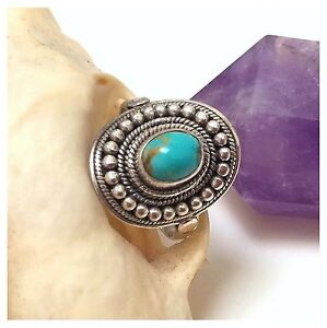 NEW .925 Sterling Silver & Turquoise Gemstone Boho Unisex Ring RRP $85 North Melbourne Melbourne City Preview