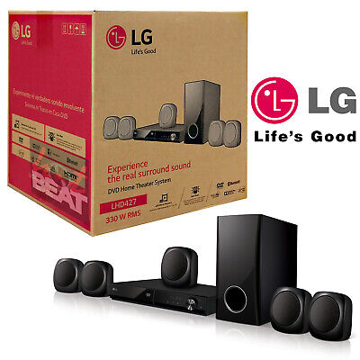 LG LHD427 Bluetooth 5.1-Channel Region Free DVD Home Theater System 110/240V