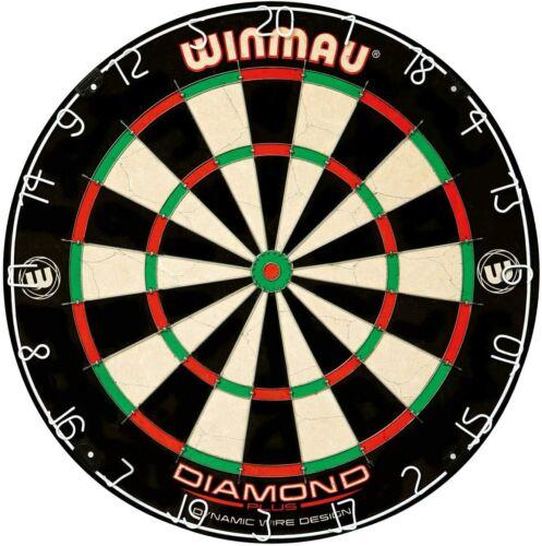 Winmau Diamond Plus Tournament Bristle Dartboard with Staple-Free Bullseye