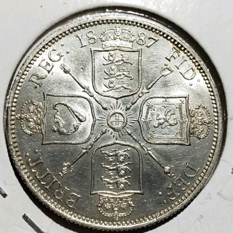 1887 Great Britain Silver Florin