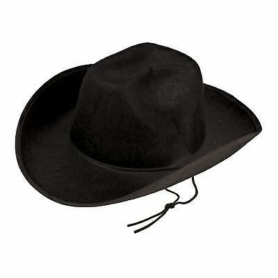 Texas Cowboy Hat Mens Ladies Wild West Fancy Dress Cowboys Hat Black