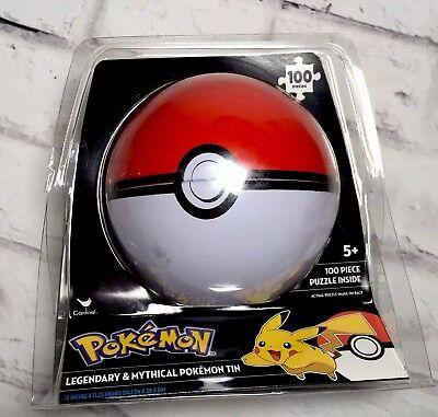 New Pokémon Poke ball Masternball 100 Piece Legendary Jigsaw Puzzle Metal Tin 100 Piece Puzzle Tin