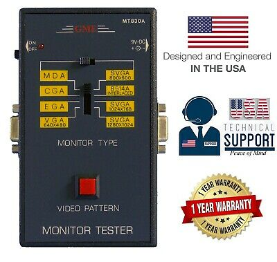 GME MT830A Portable Video Pattern Generator Monitor Tester 1-Yr USA Warranty