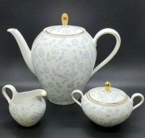 Very Rare Vintage Seltmann Weiden Bavaria Germany Teapot w/Creamer and Sugar Set