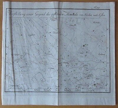 Bode: Celestial Map for May - 1778