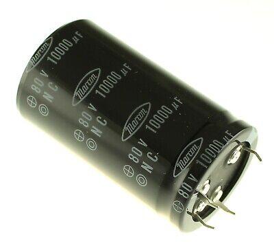 2x 10000uf 80v Radial Snap In Electrolytic Audio Capacitor 10000mfd 80vdc 10000