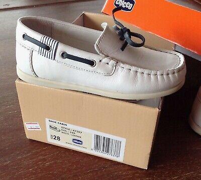 Scarpe Mocassino CHICCO Bimbo pelle bianca - 28 - baby shoe white leather