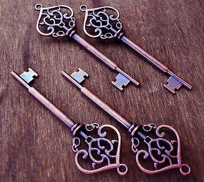 Skeleton Keys Bulk (Skeleton Keys Large Antiqued Copper Steampunk Style 2.75