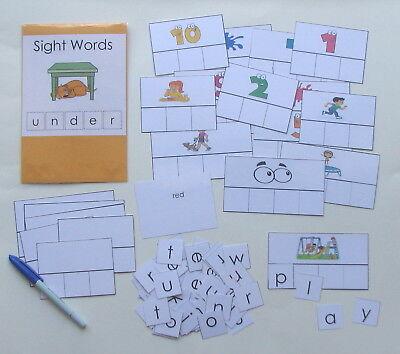 Teacher Made Literacy Center Educational Resource Game Kindegarten Sight Words