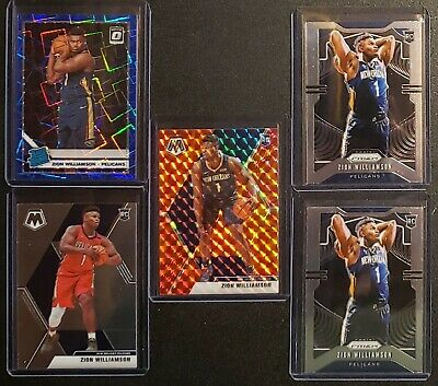 Zion 🔥 Morant 🔥 Silver Prizm 5 Card REPACK HOT PACK LOT *READ* Base Optic Auto