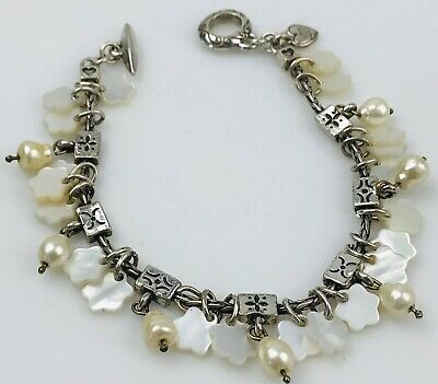 Brighton Cherry Blossom Bracelet Mother of Pearl Silver plated pearls beads Mother Of Pearl Beaded Bracelets
