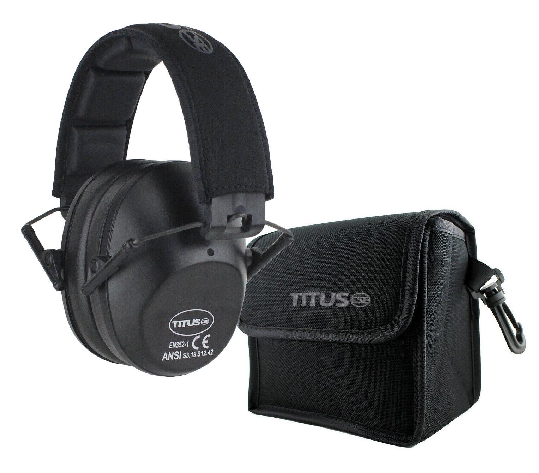TITUS Shooting Gun Range Noise Reduction Ear Muffs High 34 N