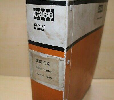 Case 530 Ck Utility Tractor Repair Service Manual Book Overhaul Owner Shop Guide