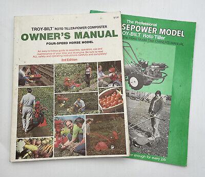 Troy-Bilt Roto Tiller 4 Speed Horse Model Owner's Manual Plus Supplement 1282