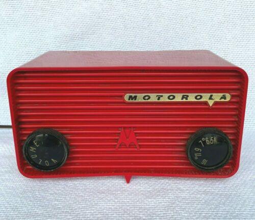 Vintage Red Motorola 57A Tube Radio Art Deco - Retro MCM