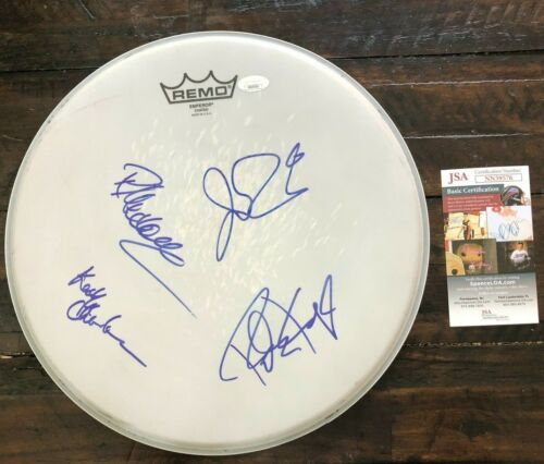 Lynyrd Skynyrd Band (Van Zandt, etc) Signed Signed Remo Drumhead W/ JSA Cert COA