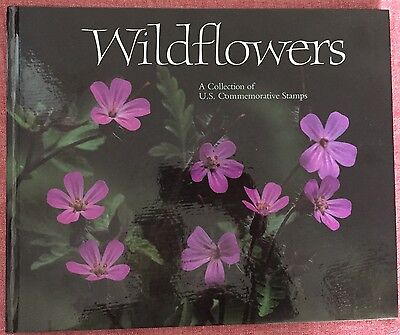 1991 Wildflowers A Collection of U.S. Commemorative Stamps Book w/Sealed Stamps