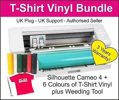 Silhouette Cameo 4 Cutting Machine, T-Shirt Printing Starter Kit, UK STOCK