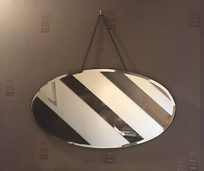 Antique Hanging Oval Mirror