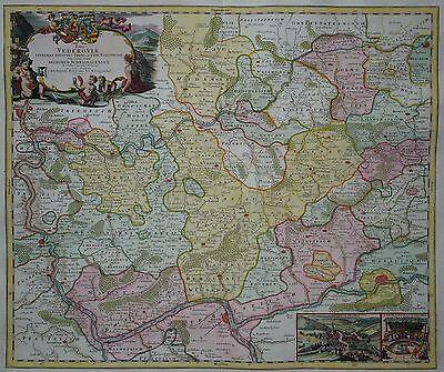 Wetterau mit dem Taunus und dem Rheingau - Mainz - Homann 1730 - Pars Vederoviae