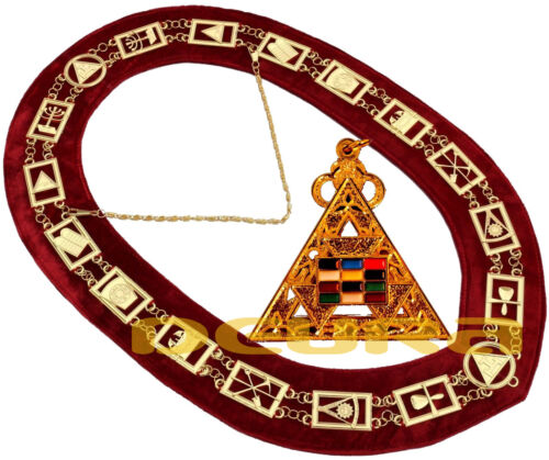 Masonic ROYAL ARCH COLLAR + PHP JEWEL PENDANT