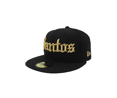 - New Era 59Fifty Hat Santos Laguna Soccer Club Mexican League Black With Gold Cap