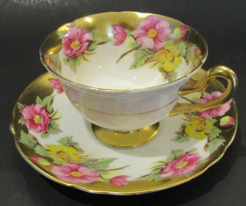 Vintage Shelley Tea Cup & Saucer Heavy Gold