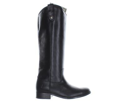 Frye Womens Melissa Black Smooth Vintage Leather Fashion Boots Size 5.5