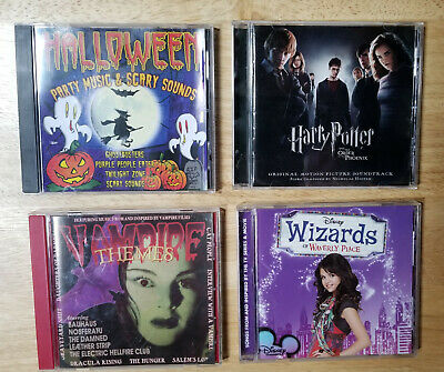 Harry Potter Halloween Music (Lot of 4 SPOOKY CDs: Halloween, Vampire Themes, Harry Potter, Wizards of)