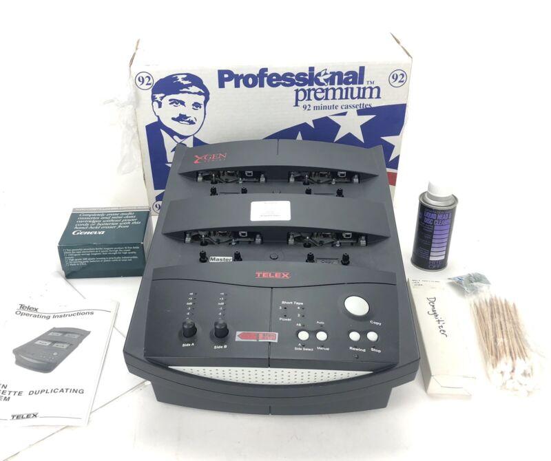 TELEX X-GEN Cassette Duplicating System W/ Manual Cartridge Eraser And Blanks