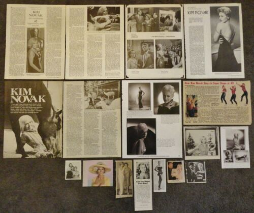 Lovely KIM NOVAK Clippings Collection