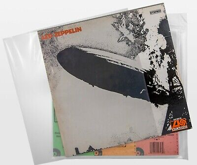 100 Clear Plastic LP Outer Sleeves 3 Mil. HIGH QUALITY Vinyl Record Album Covers