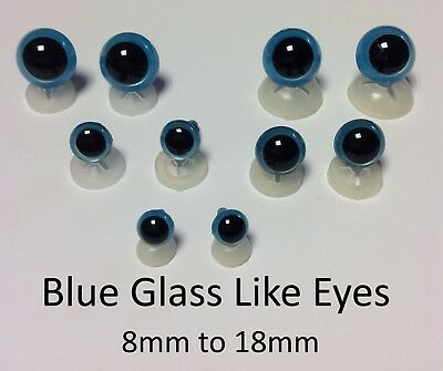 GLASS LIKE EYES - PLASTIC BACKS Teddy Bear Making Soft Toy Doll Animal Craft  - 6
