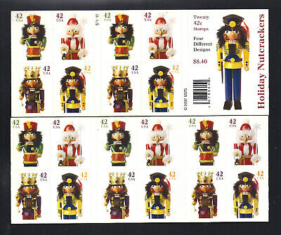 #4363b Nutcracker Christmas Complete Booklet of 20, Mint, NH