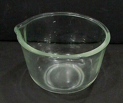 """Vintage Stand Mixer Clear Kitchen Glass Small 5"""" x 6-1/2"""" Mixing Bowl FREE S/H"""