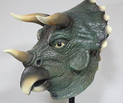 Latex Dinosaurier Maske Jurassic Triceratops Kostüm Kostüm Halloween - Top Halloween Masken
