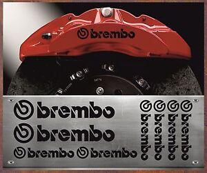 8 Stück Brembo Bremssattel Aufkleber Sticker Hitzebeständige BMW VW Audi Br8S