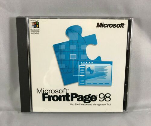 Microsoft Front Page 98 with CD Key