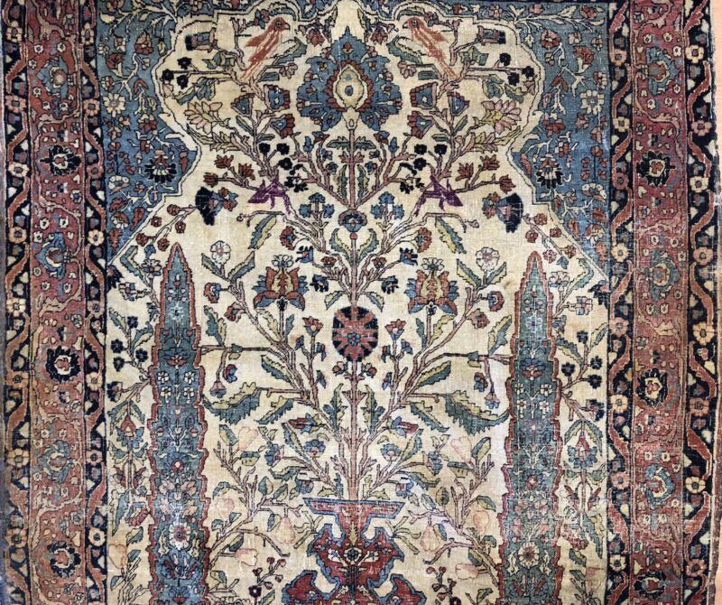 Fantastic Floral - 1890s Antique Oriental Rug - Handmade Carpet - 4.4 X 6.4 Ft.