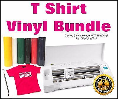 Silhouette Cameo 3 & T-Shirt Vinyl Starter Kit, Cutter, Plotter  + £79 Freebies